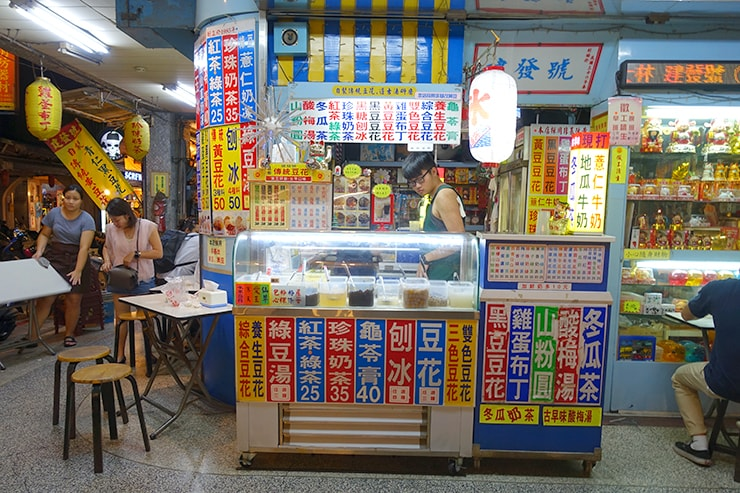 台北最大の超有名夜市・士林夜市「建發號傳統豆花」の外観