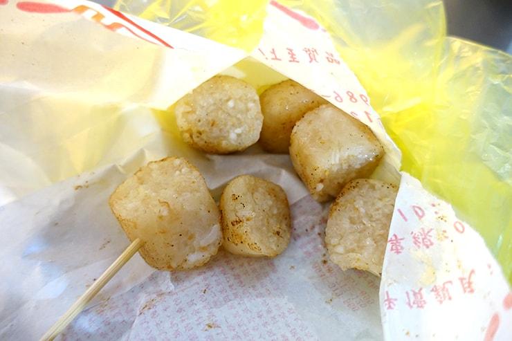 台湾の伝統グルメ「糯米腸」カット後