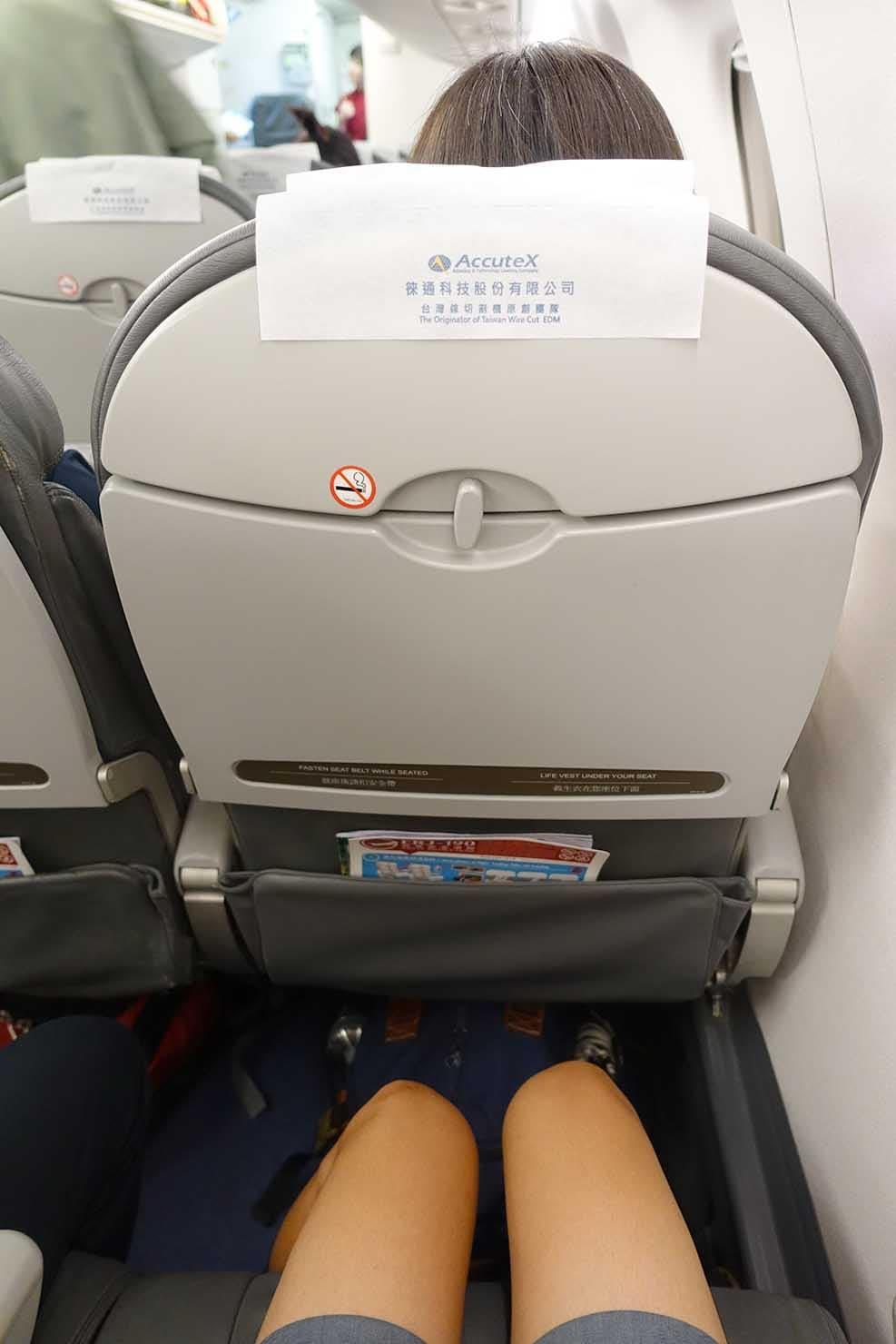 台湾国内線マンダリン航空(華信航空)の座席