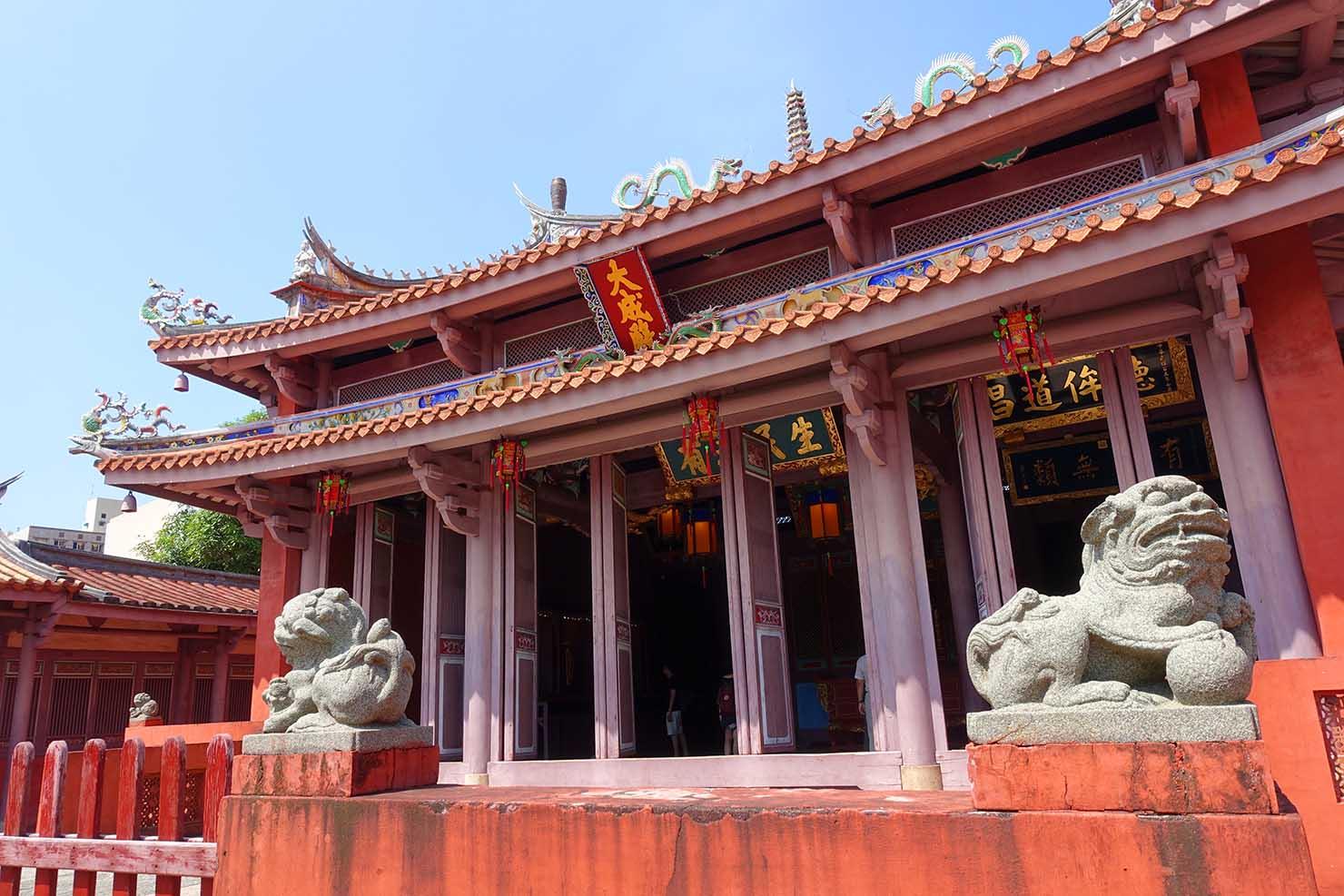 台湾の古都・台南のおすすめ観光スポット「孔廟」の本堂