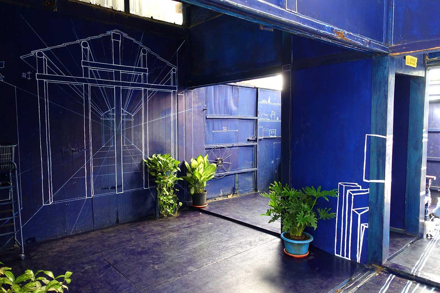 台湾の古都・台南のおすすめ観光スポット「藍晒圖文創園區」青焼きの家内部