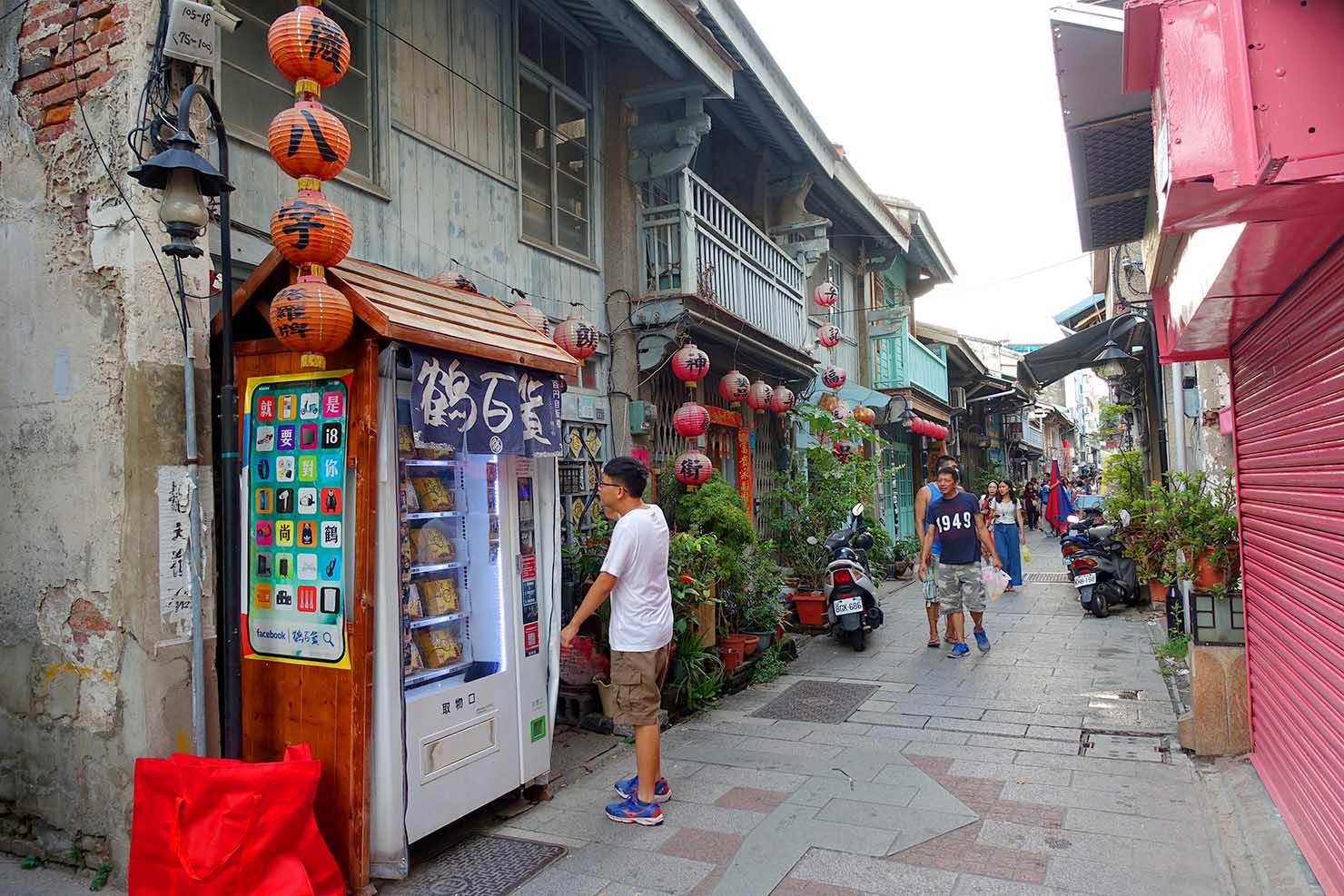 台湾の古都・台南のおすすめ観光スポット「神農街」の入り口