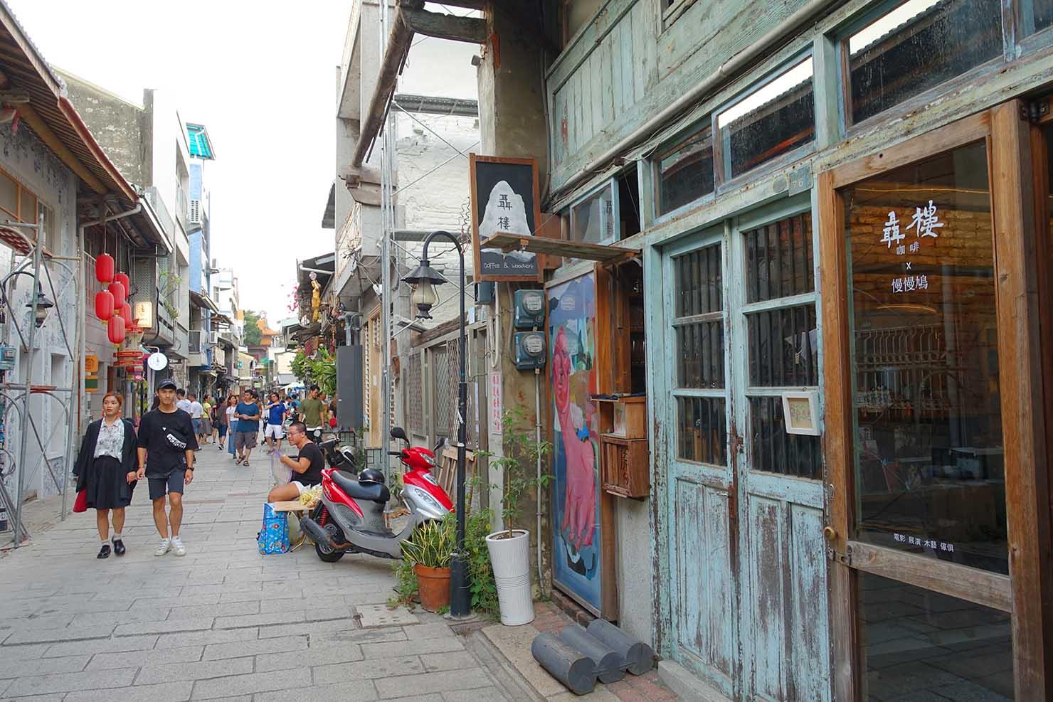 台湾の古都・台南のおすすめ観光スポット「神農街」の街並み