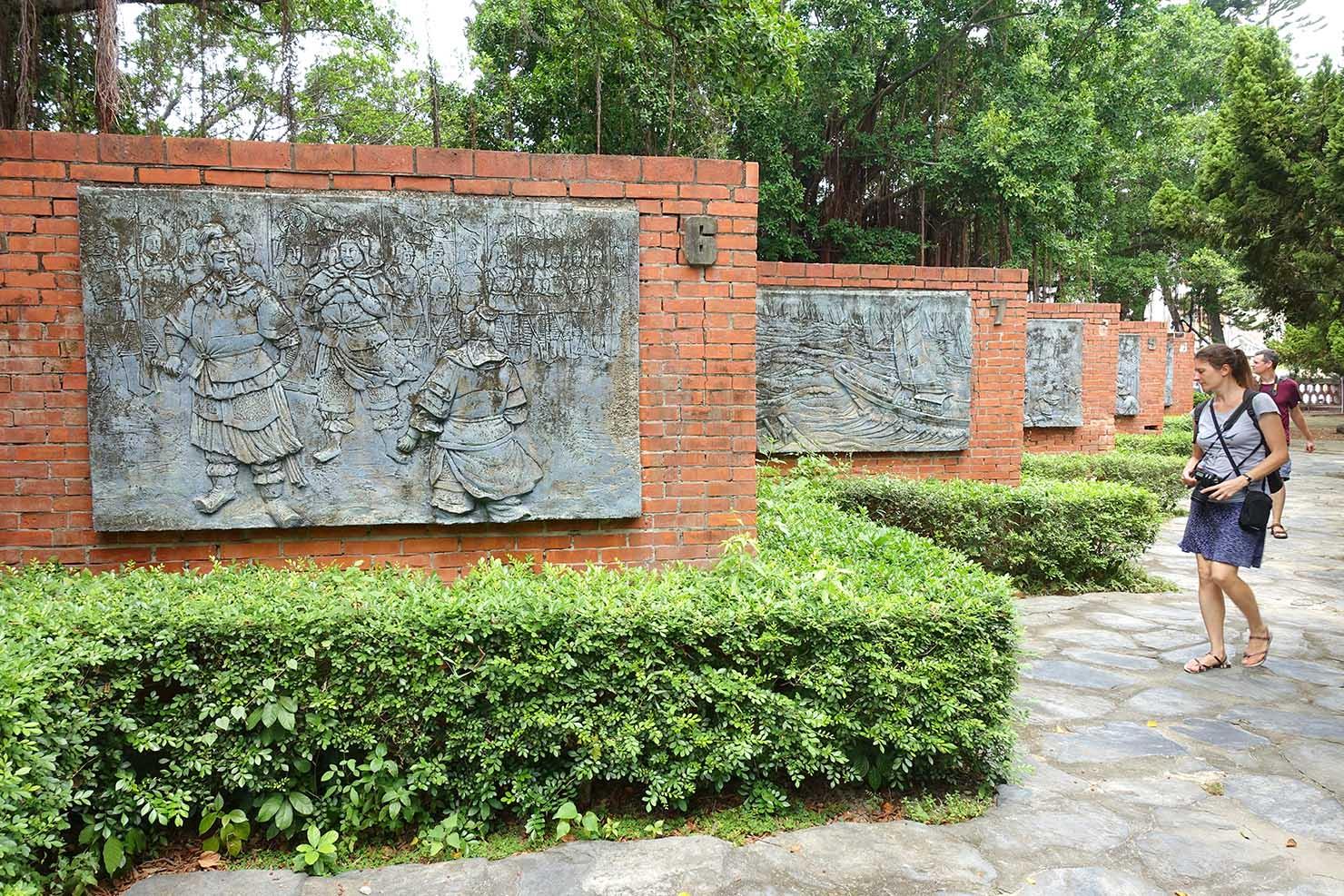 台湾の古都・台南のおすすめ観光スポット「安平古堡」の鄭成功紹介エリア