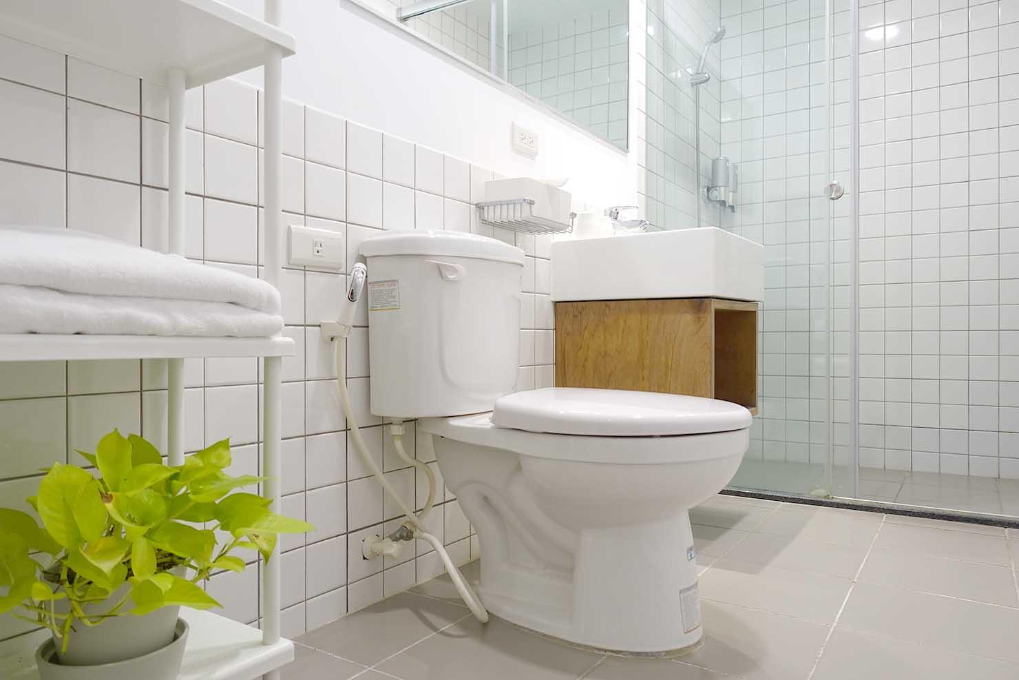 高雄・美麗島駅徒歩3分の立地最高なおすすめホテル「小島公寓 Island House」のバスルーム