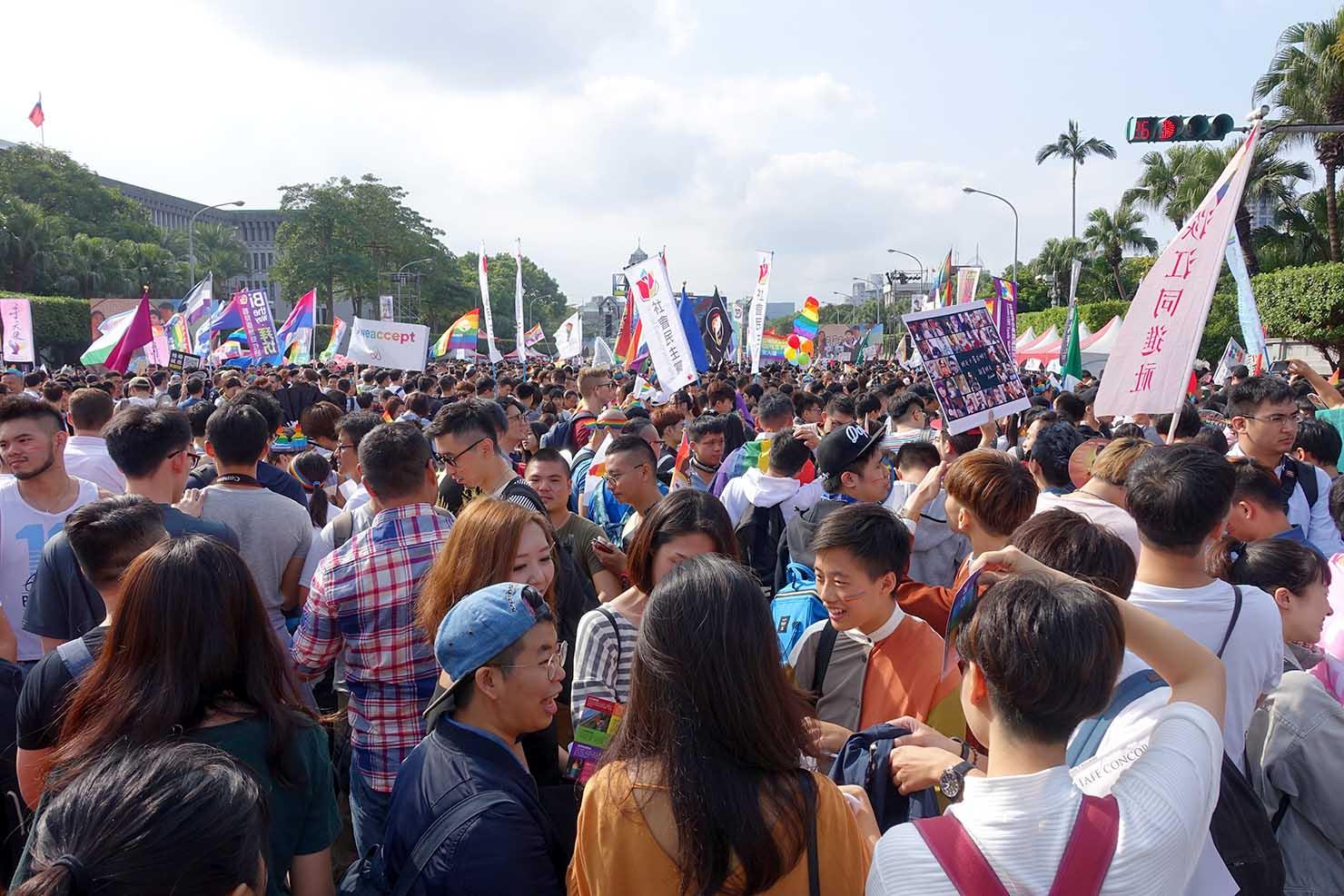 台湾LGBTプライド(台灣同志遊行)2017の集合地点となった凱達格蘭大道