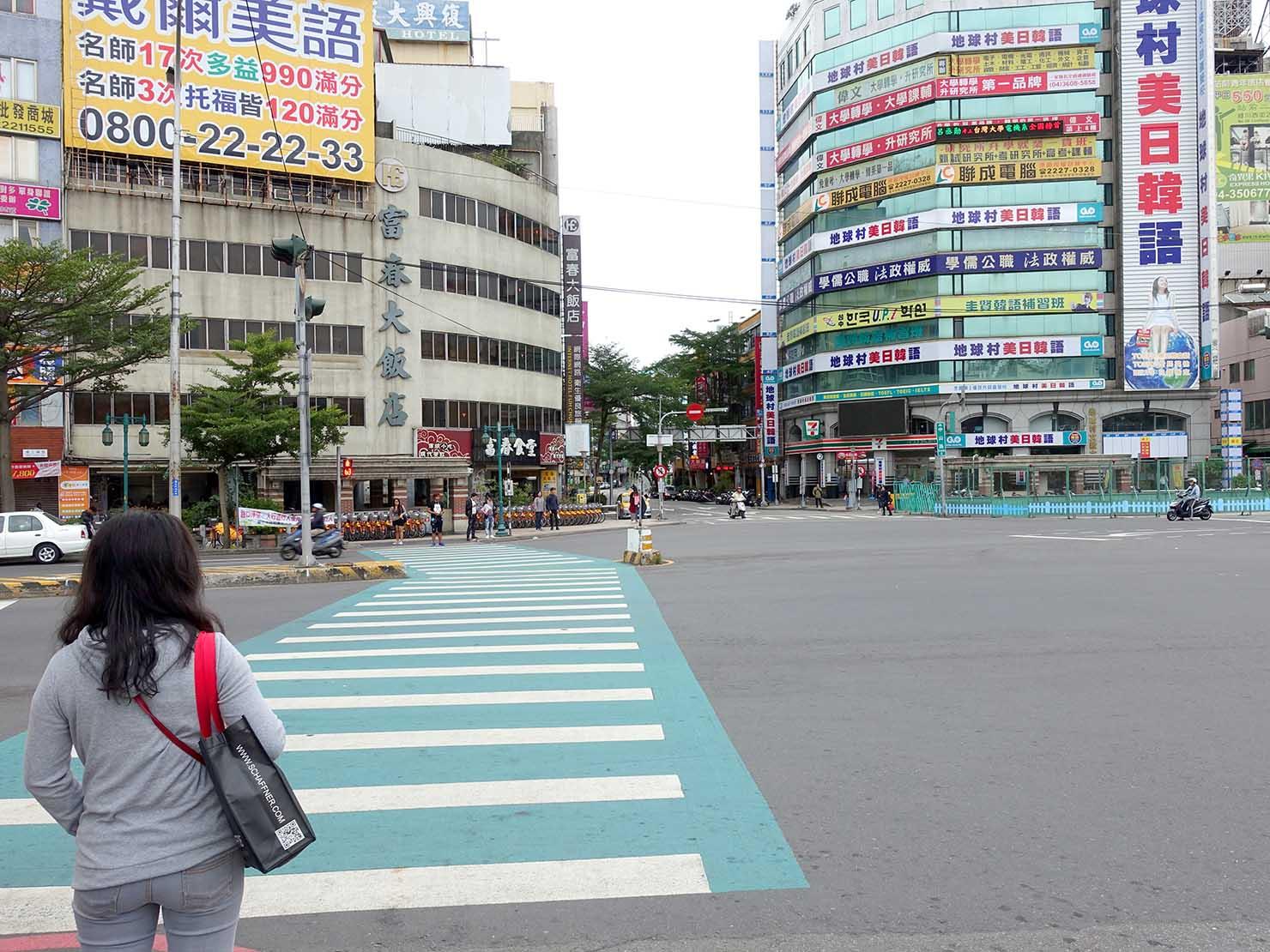 旧台中駅前広場の交差点