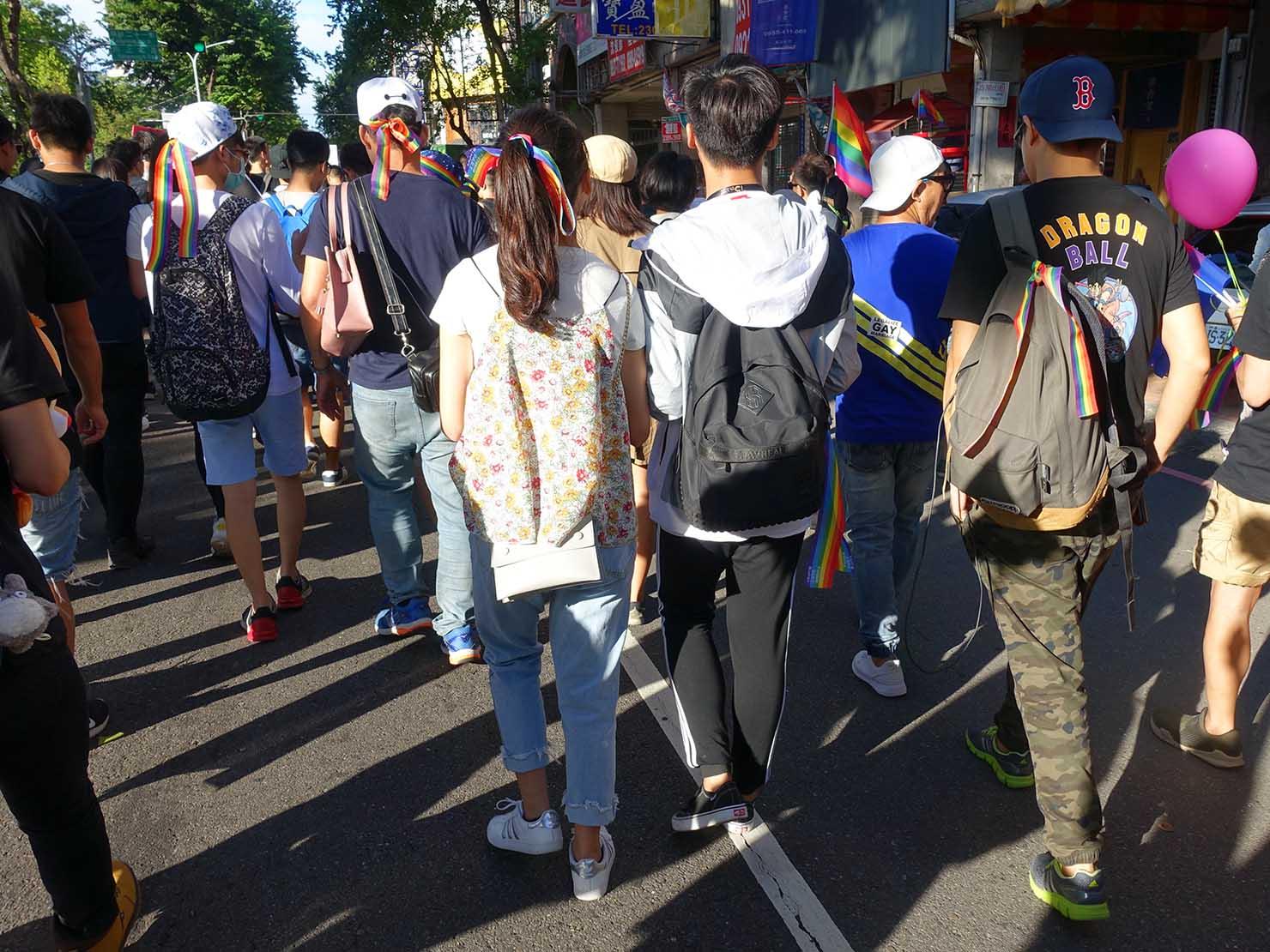 台中同志遊行(台中LGBTプライド)2017に参加するストレートカップル