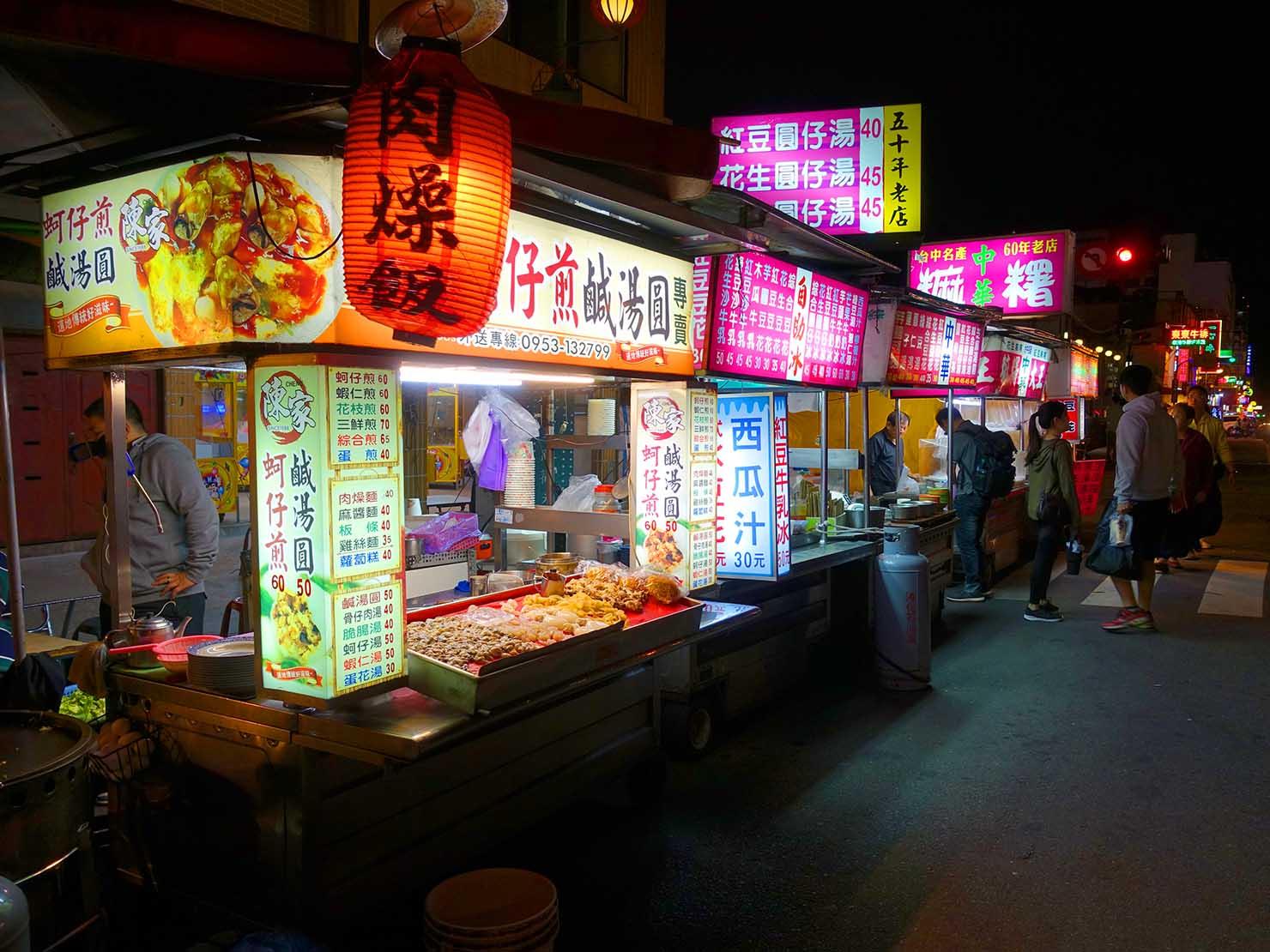台中駅徒歩10分のリーズナブルなおすすめミニホテル「光原宿 Light House」最寄りの夜市「中華路夜市」
