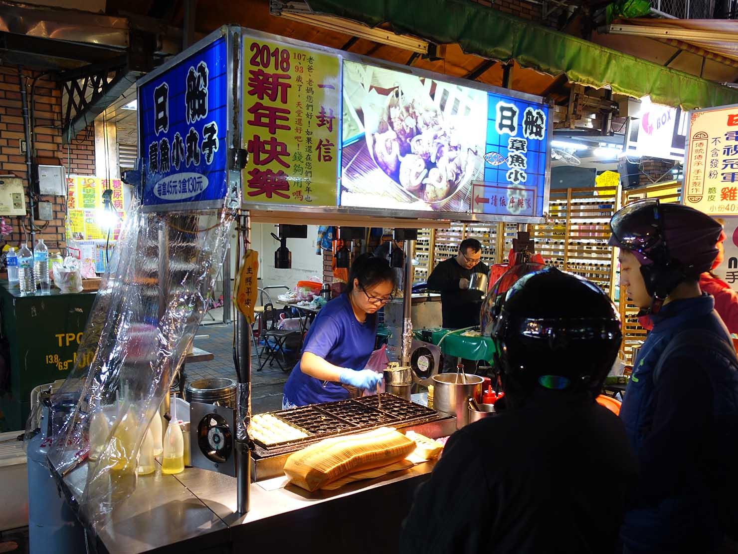 台湾の夜市で食べられる日本グルメ「章魚燒(たこ焼き)」の屋台