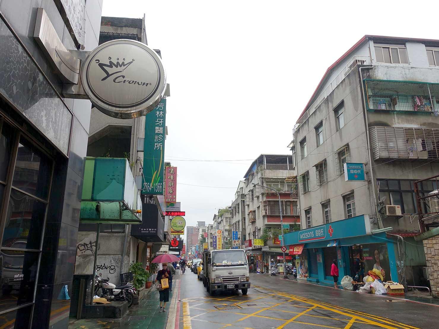 台北MRT(地下鉄)市政府駅近くのグルメストリート「永吉街30巷」