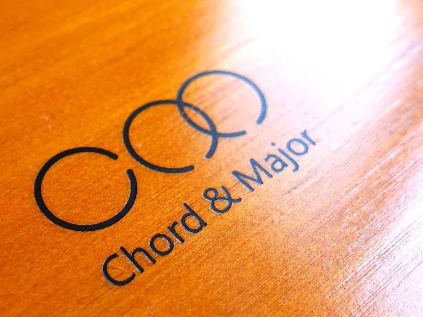 台湾発の高品質イヤホンブランド「Chord&Major(コード&メジャー)」ロゴ
