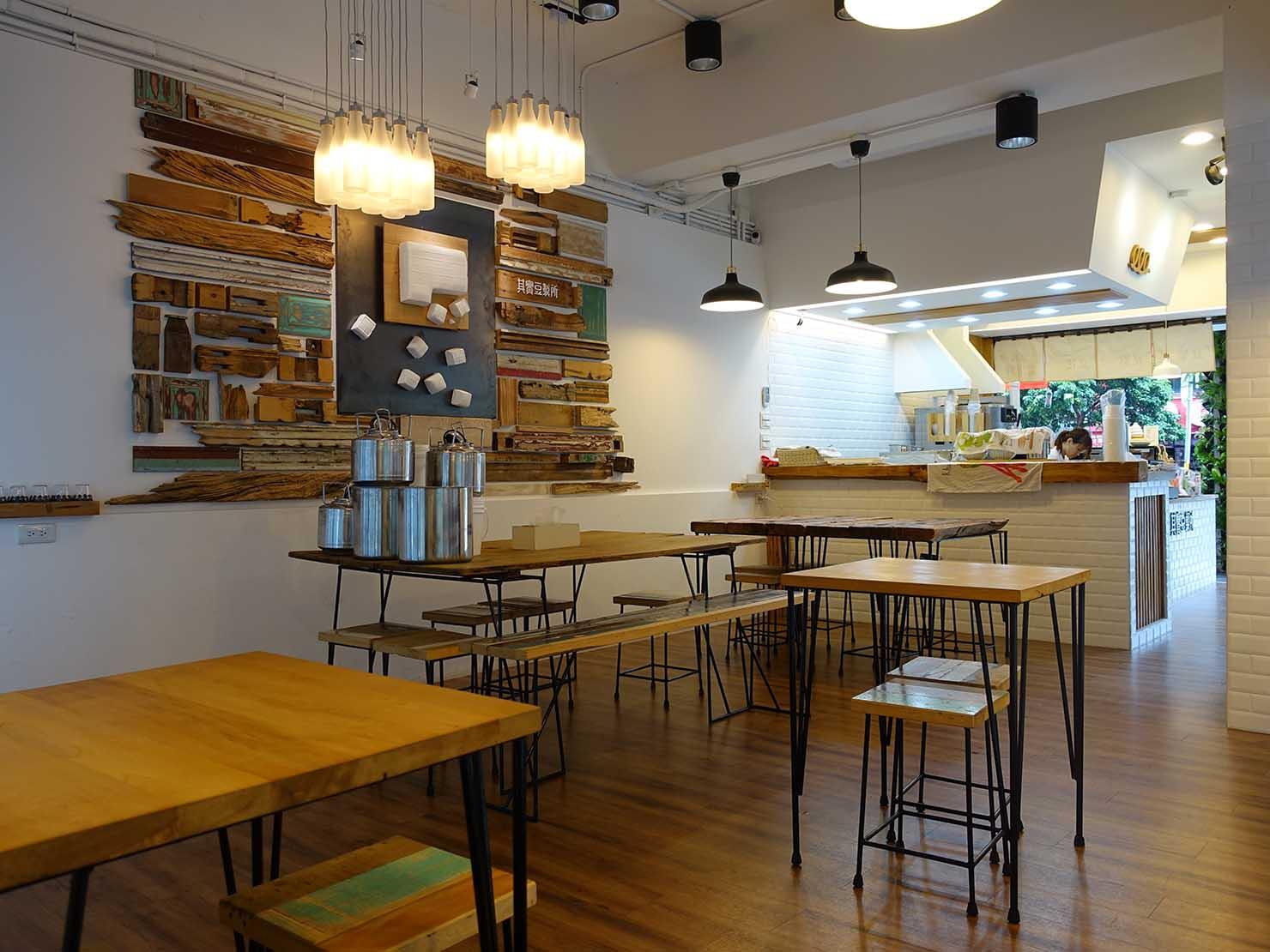 台北・東門エリアのおすすめグルメ店「其實豆製所」の店内