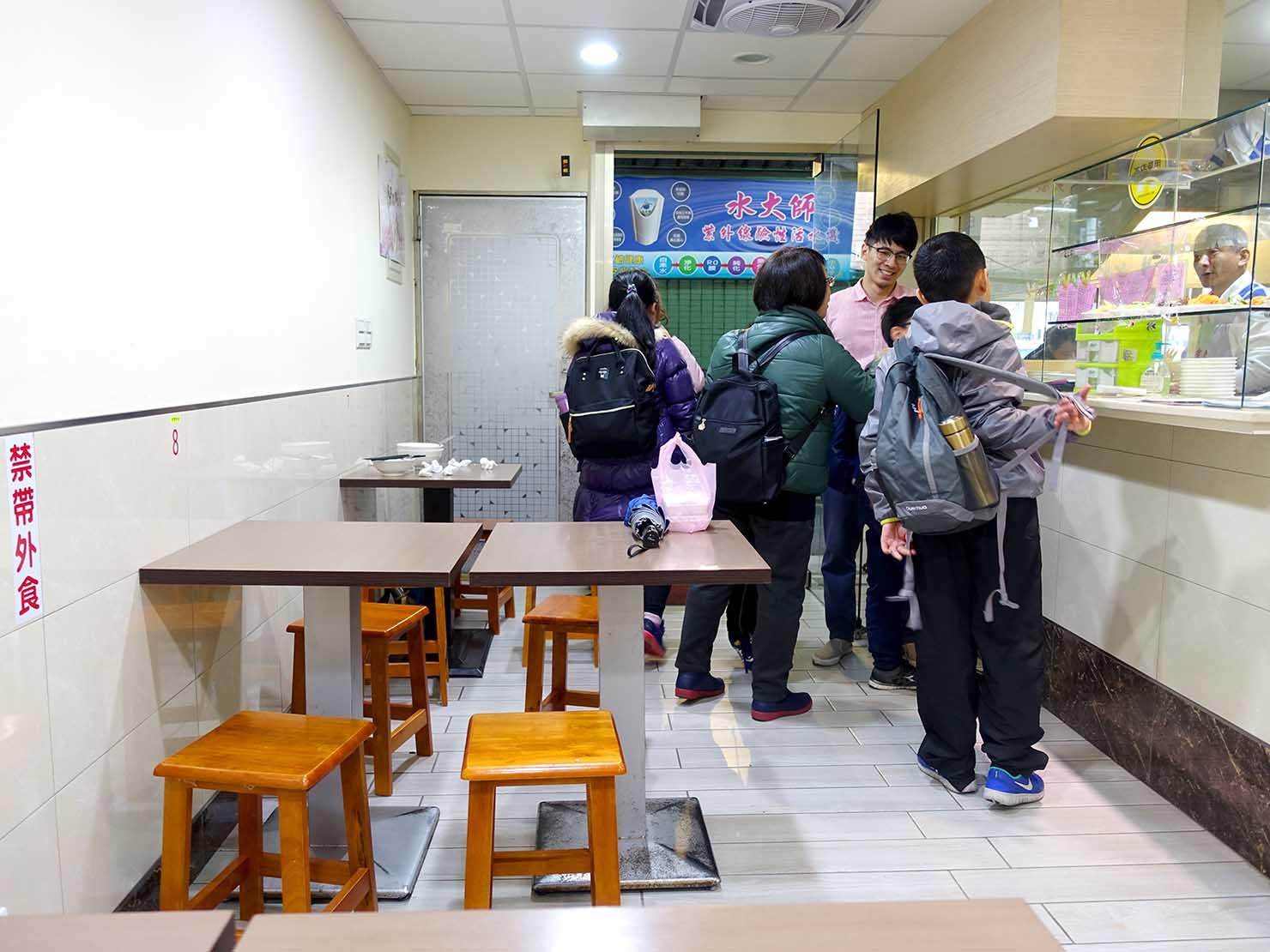 台北・東門エリアのおすすめグルメ店「富久湯圓大王」の店内