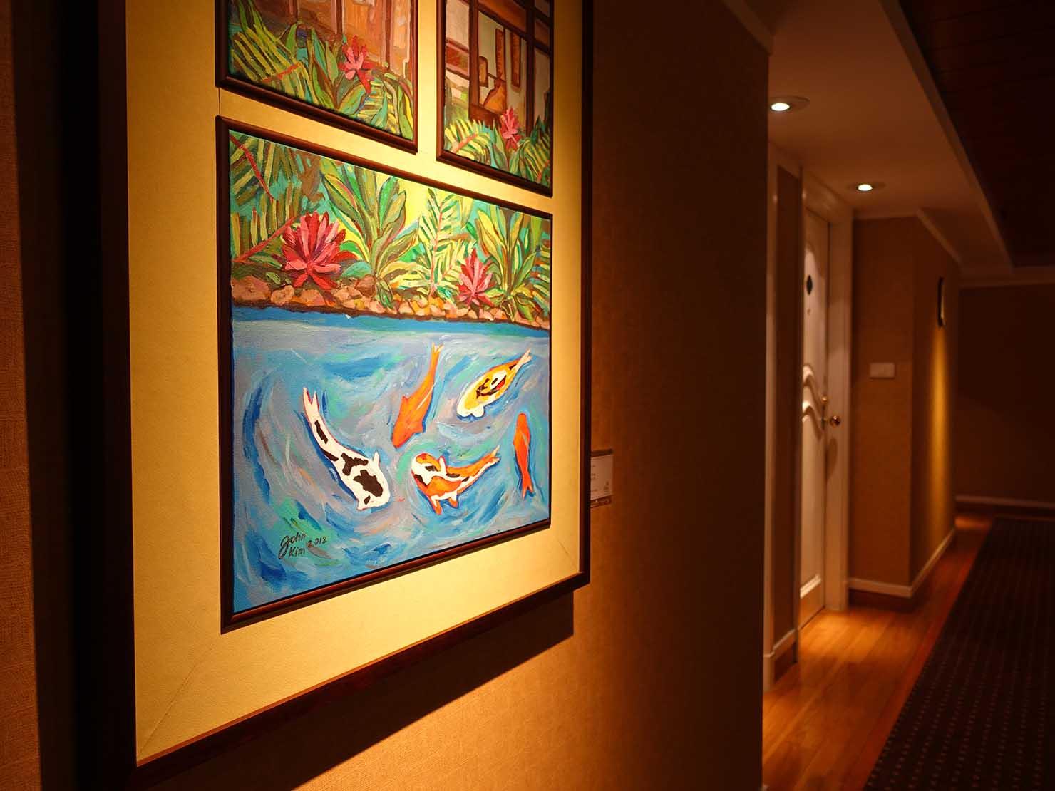 台北のおすすめ4つ星ホテル「歐華酒店(リビエラホテル)」館内に並ぶアート作品