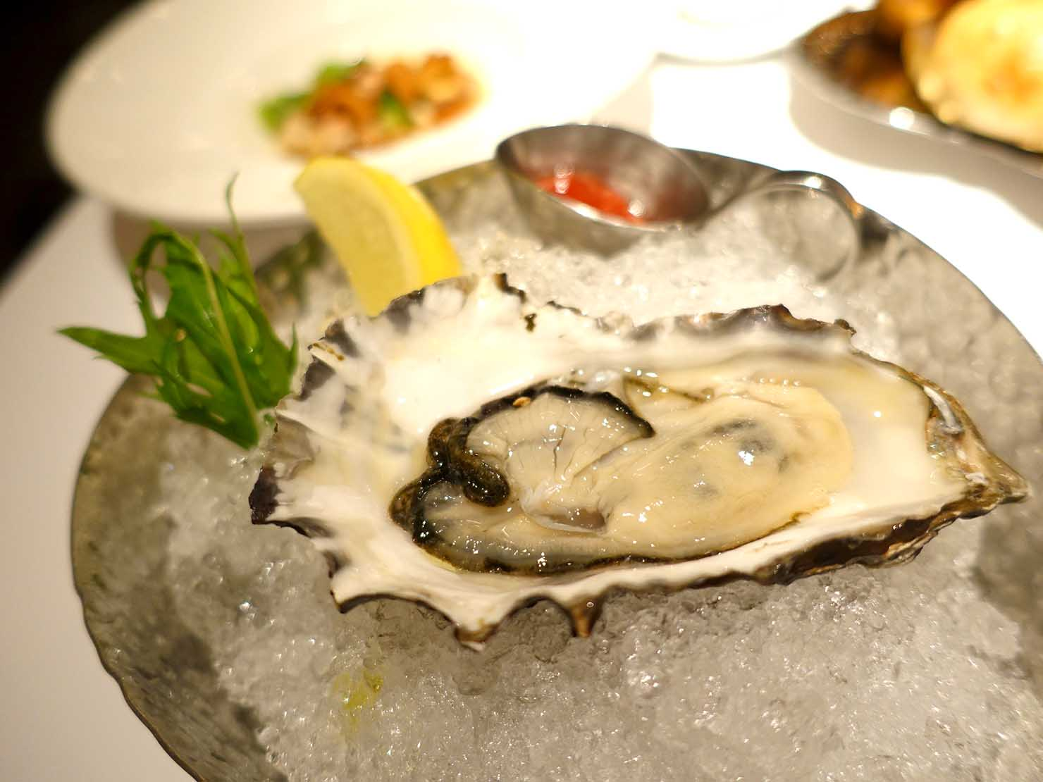 台北の4つ星ホテルにあるステーキハウス「地中海牛排館」の進口新鮮生蠔(生牡蠣)