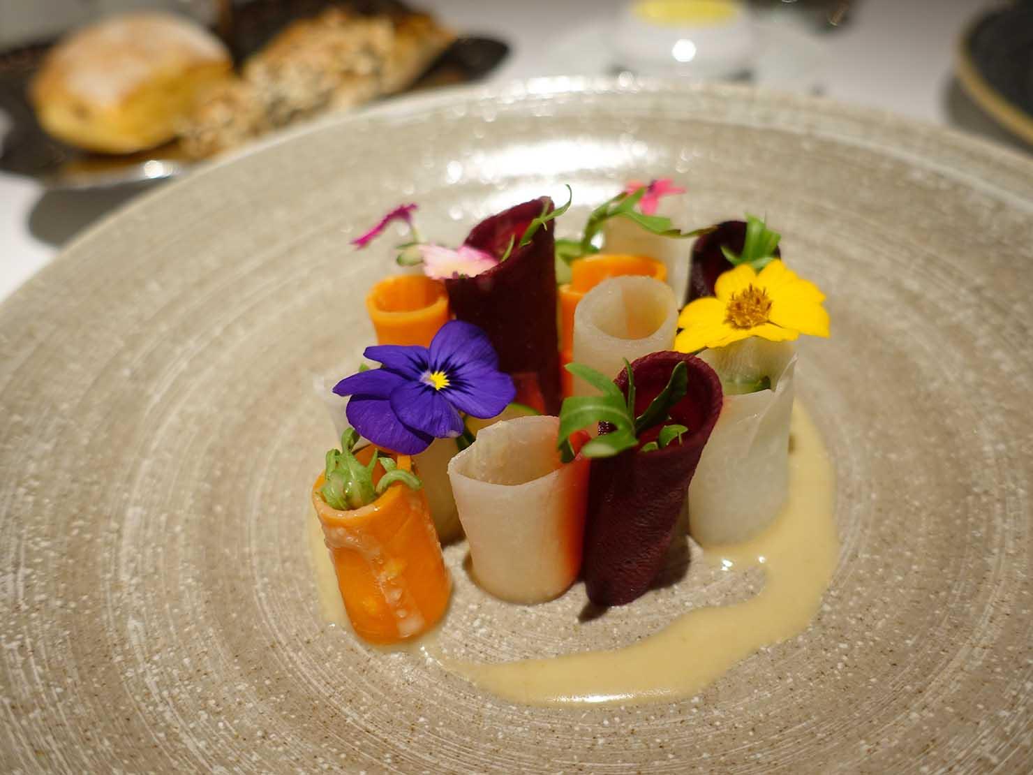 台北の4つ星ホテルにあるステーキハウス「地中海牛排館」の低溫烹調鮮蔬(低温調理サラダ)