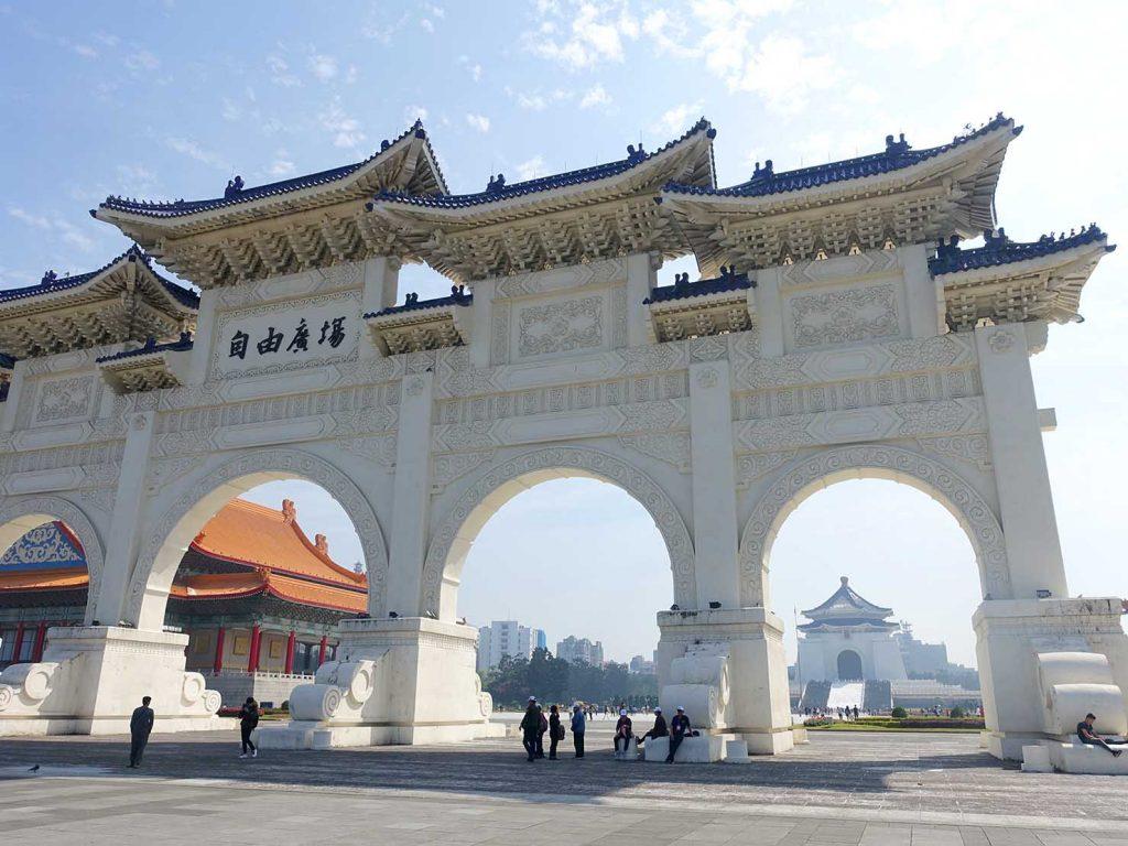 春節(旧正月)を迎えたの台北の観光スポット「中正紀念堂」