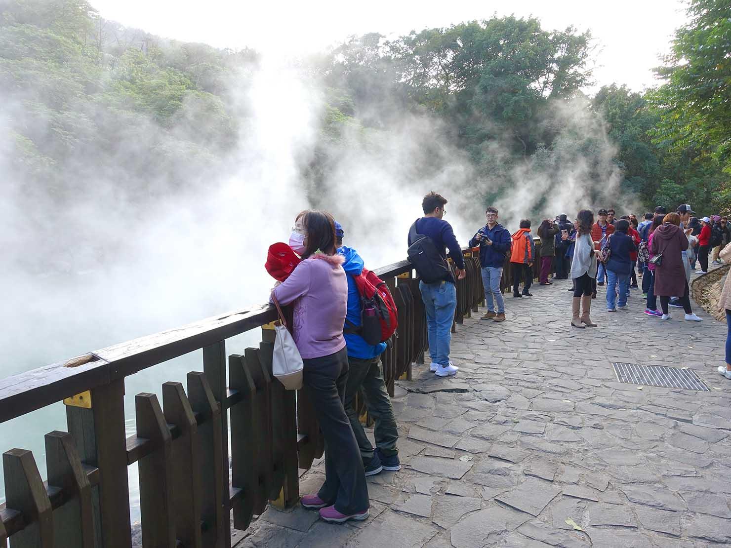 春節(旧正月)を迎えたの台北の観光スポット「北投溫泉」