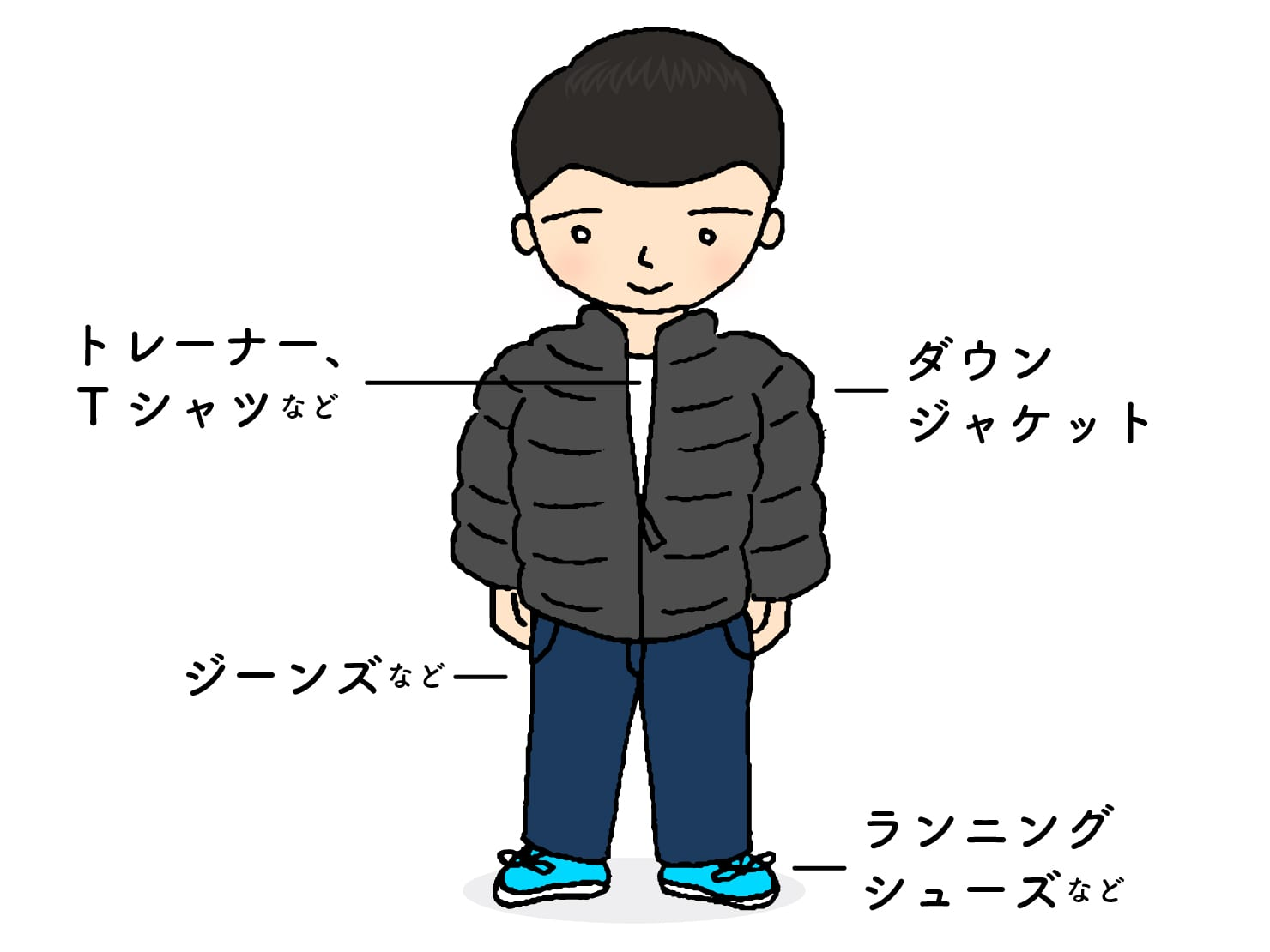 台湾男子お気に入りの冬コーデ「ダウンジャケット」