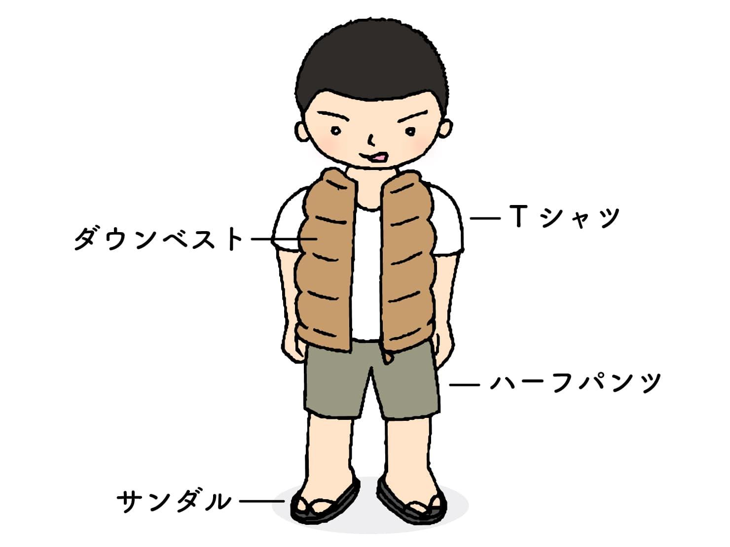 台湾男子お気に入りの冬コーデ「ダウンベスト」