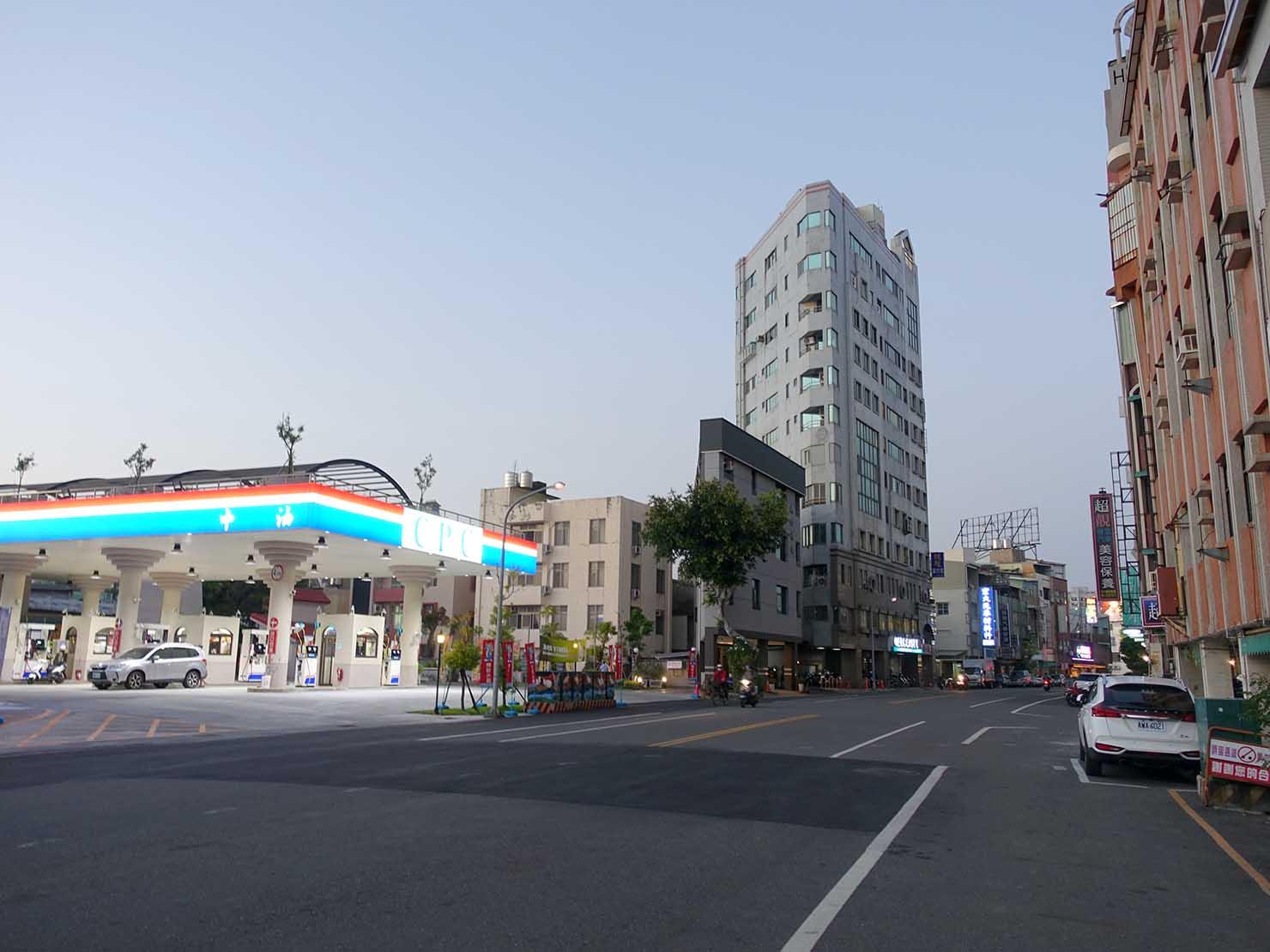 台南・前鋒路にあるガソリンスタンド