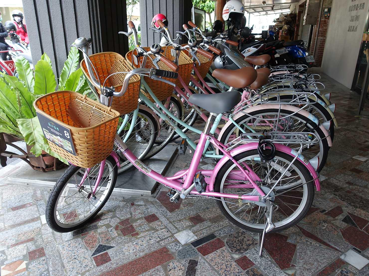 台南駅徒歩10分のかわいいデザインホテル「南方家屋 Old School」のレンタサイクル