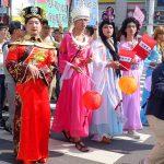 2018年台湾最初のLGBTプライド「台南彩虹遊行(台南レインボーパレード)」に参加するコスプレ手段