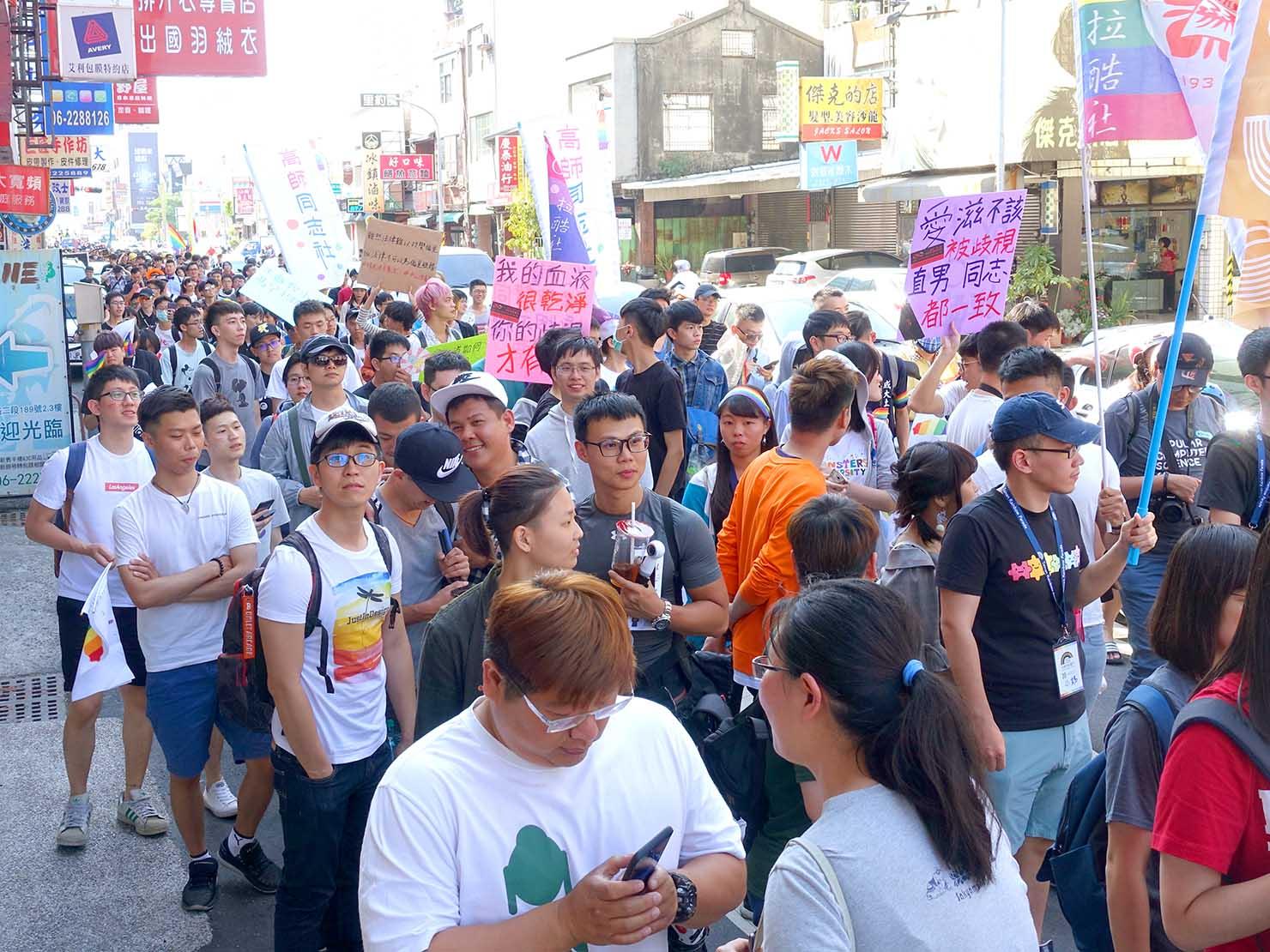 2018年台湾最初のLGBTプライド「台南彩虹遊行(台南レインボーパレード)」1万人のパレード隊列(正面)
