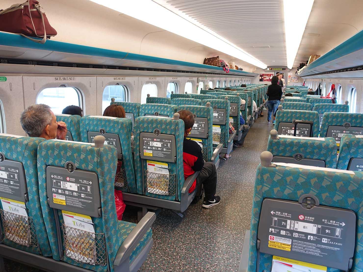 台湾新幹線(高鐵)の車両内