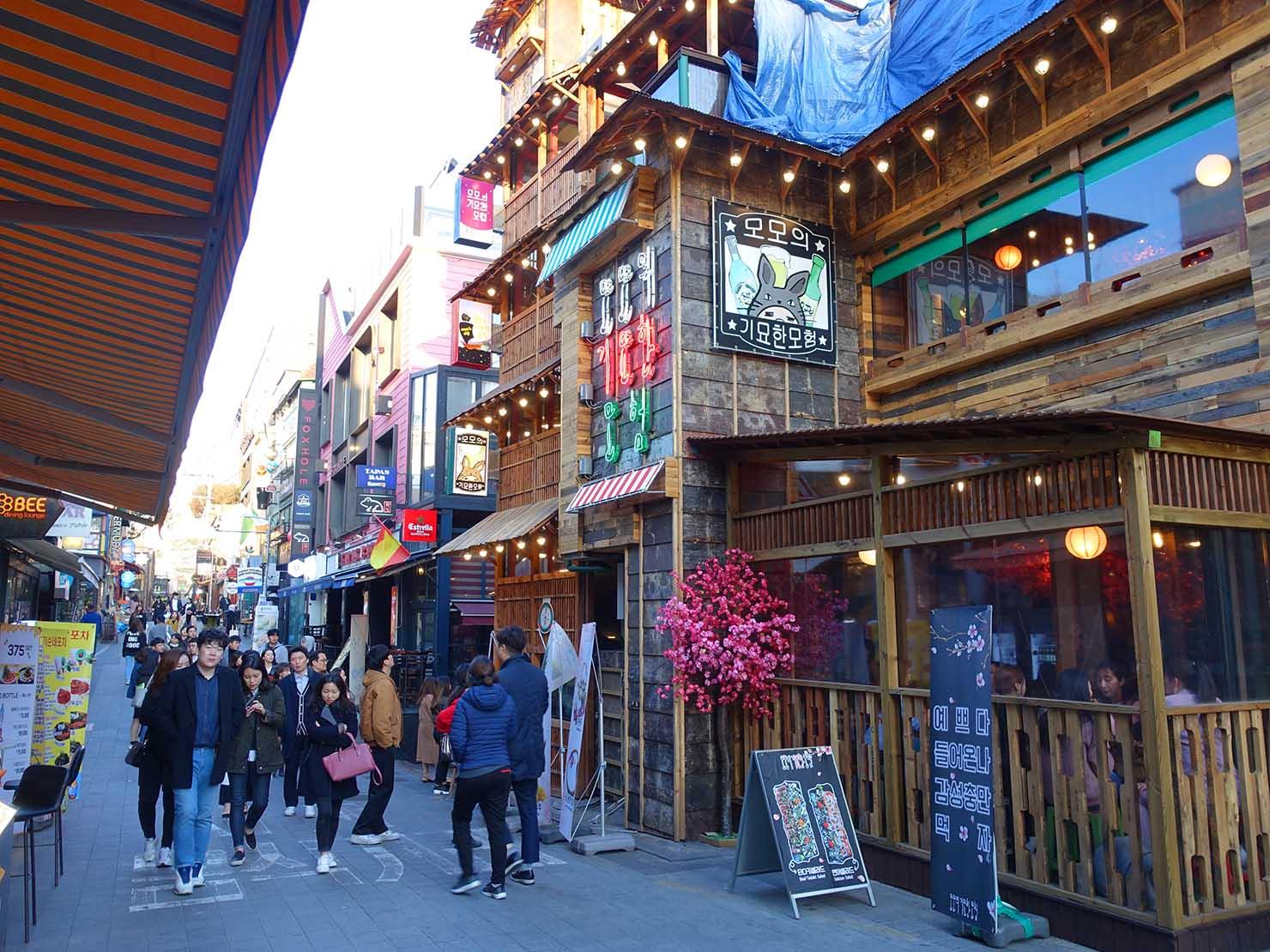 ソウルの有名スポット・梨泰院(이태원/イテウォン)の街並み