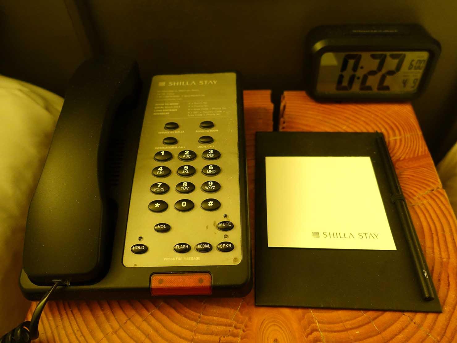 ソウル観光に超便利なアクセス抜群の特2級ホテル「新羅ステイ麻浦 Shilla Stay Mapo」スタンダードツインの電話
