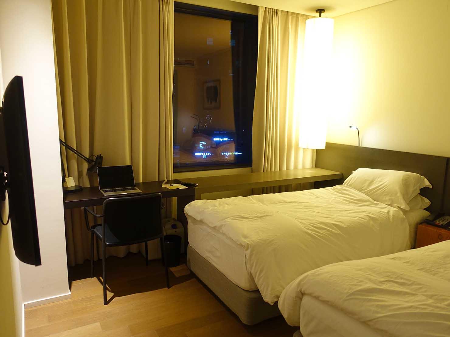 ソウル観光に超便利なアクセス抜群の特2級ホテル「新羅ステイ麻浦 Shilla Stay Mapo」スタンダードツイン