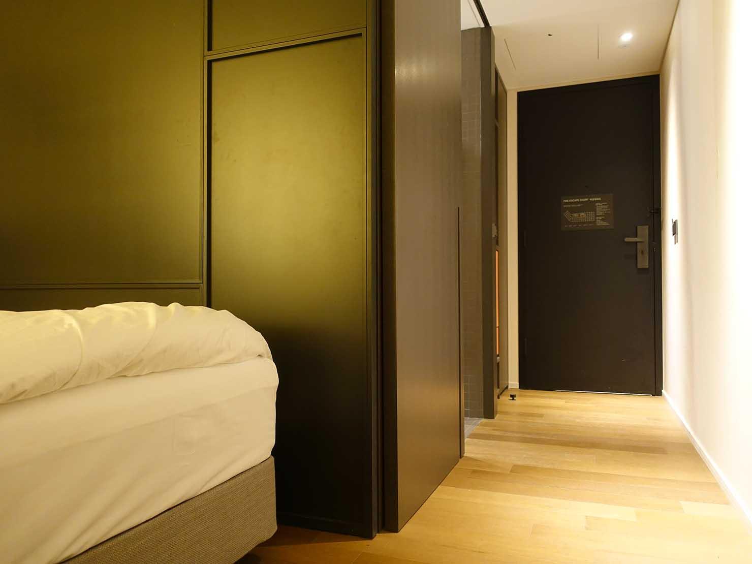 ソウル観光に超便利なアクセス抜群の特2級ホテル「新羅ステイ麻浦 Shilla Stay Mapo」スタンダードツインの玄関