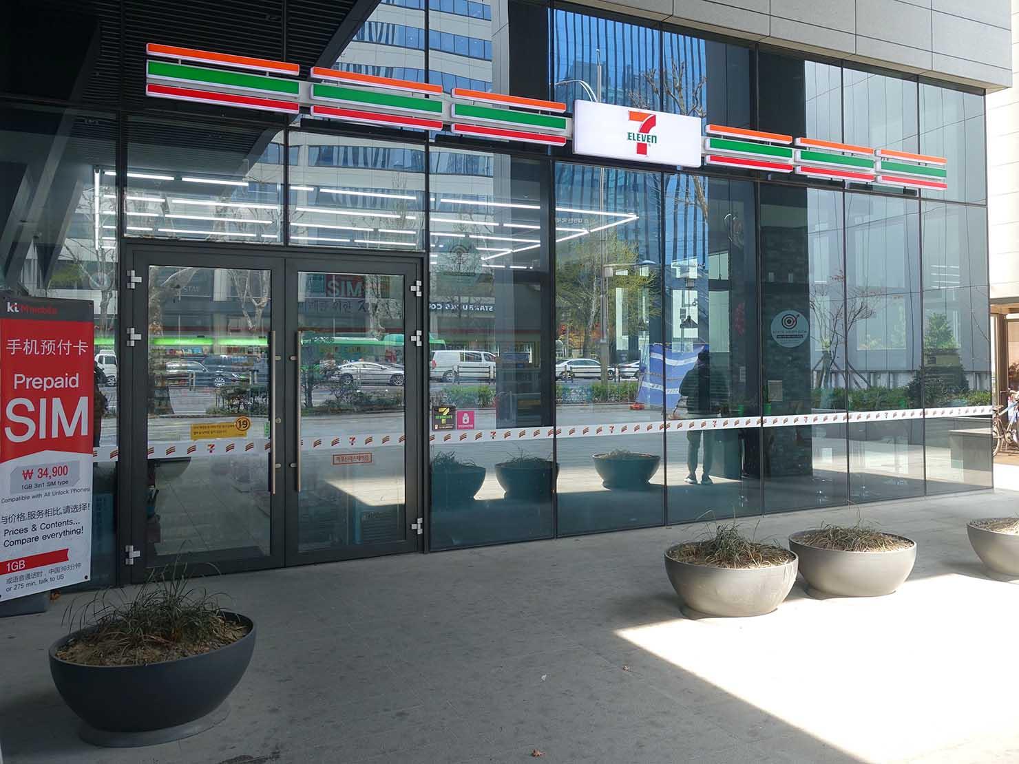 ソウル観光に超便利なアクセス抜群の特2級ホテル「新羅ステイ麻浦 Shilla Stay Mapo」1Fにあるコンビニ(セブンイレブン)