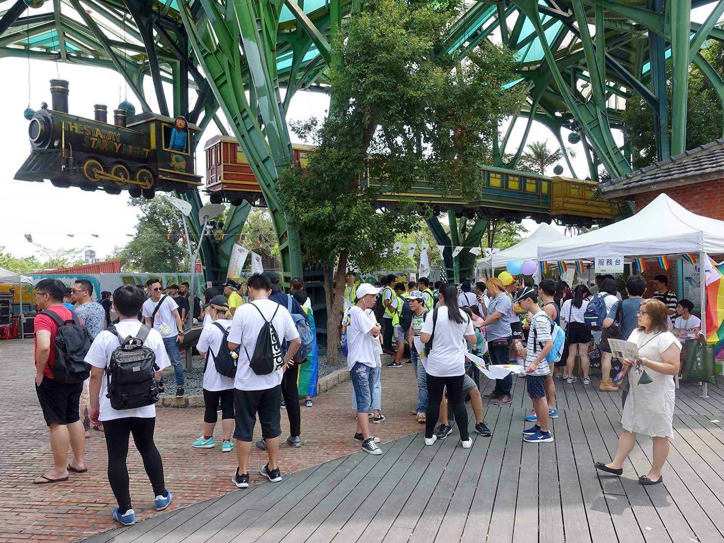 2018年台湾のLGBTプライド「宜蘭驕傲大遊行(宜蘭プライド)」の会場