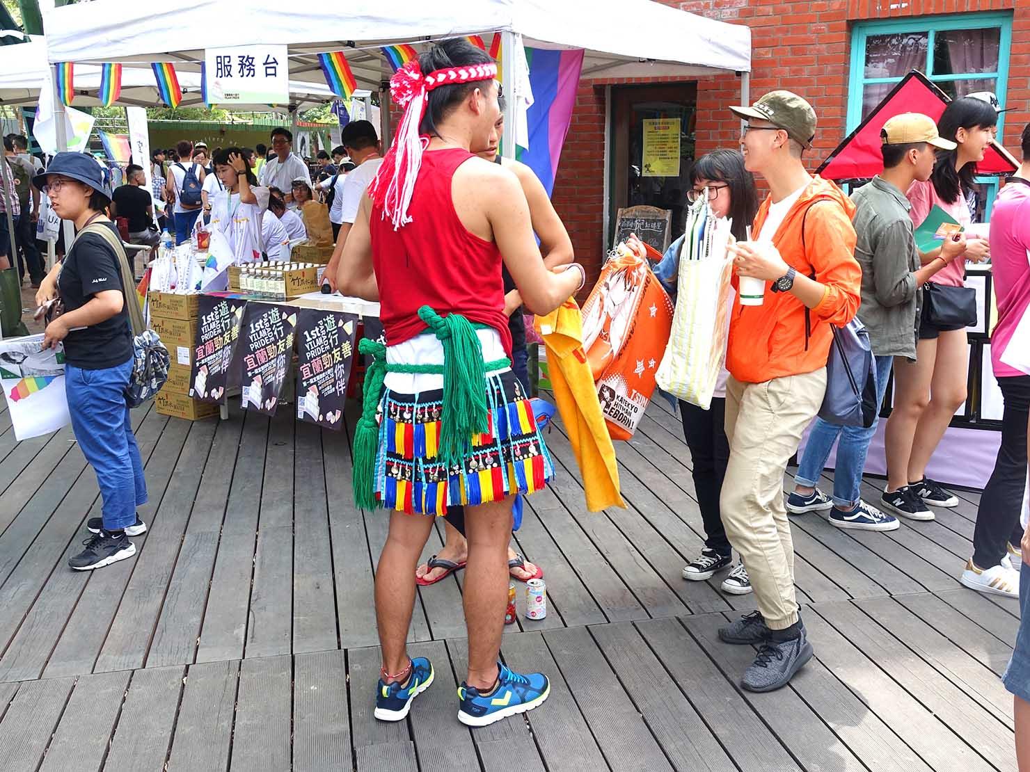 2018年台湾のLGBTプライド「宜蘭驕傲大遊行(宜蘭プライド)」に参加する原住民族の青年