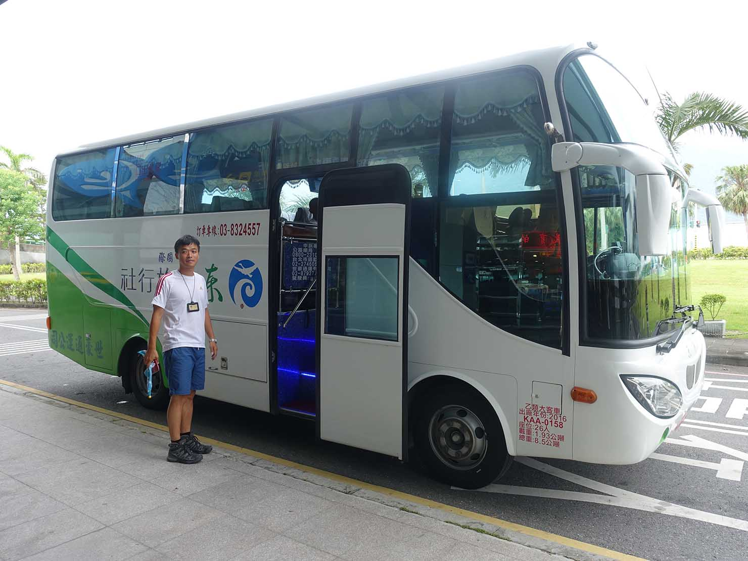 KKday外国人限定「花蓮・太魯閣(タロコ)日帰りツアー」のツアーバス