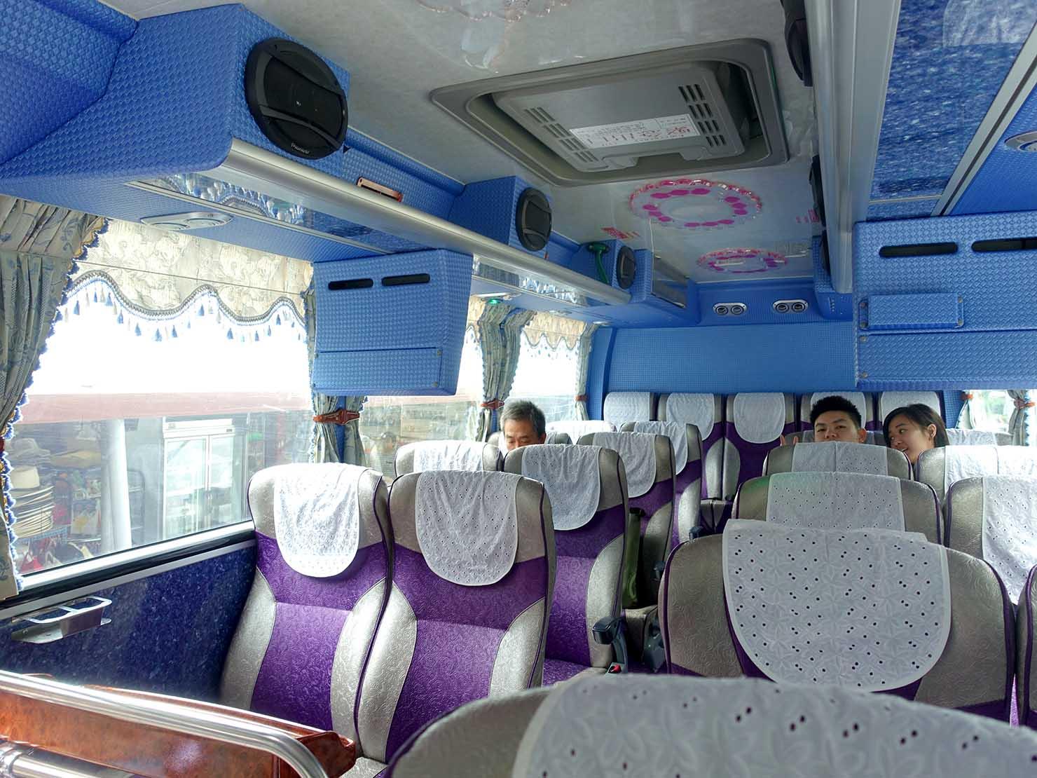 KKday外国人限定「花蓮・太魯閣(タロコ)日帰りツアー」ツアーバス内