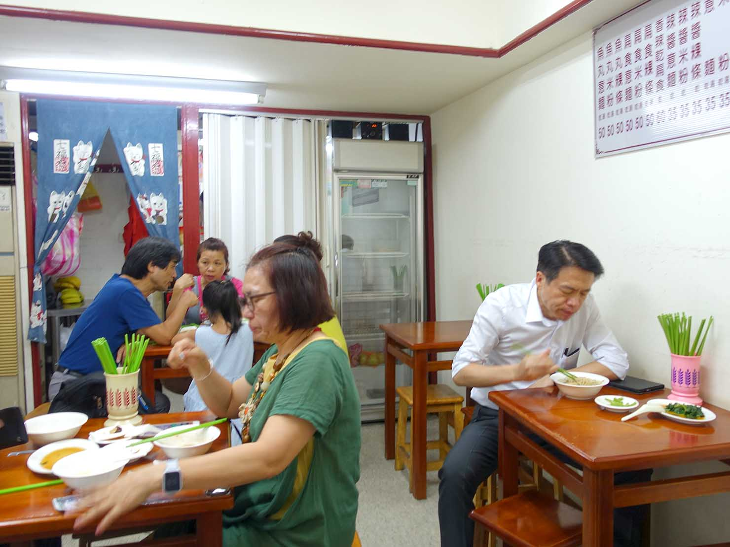 台北・行天宮のおすすめグルメ店「真味堂傳統意麵」の店内