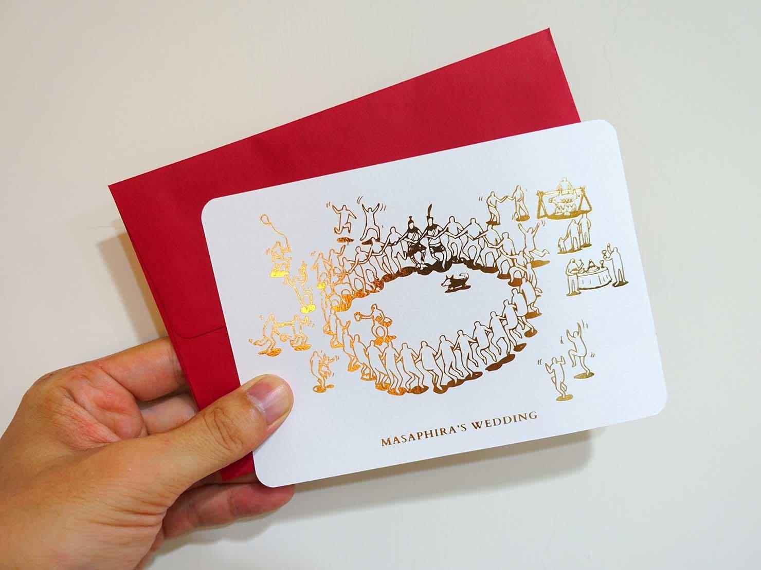 台湾の結婚式招待状「喜帖」