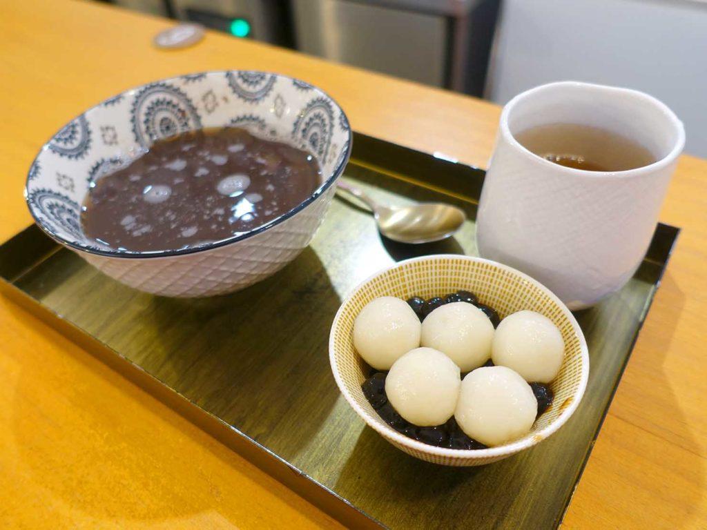 台北・中山駅周辺のおすすめグルメ店「The Wrice 來時」の珍珠白玉紅豆湯
