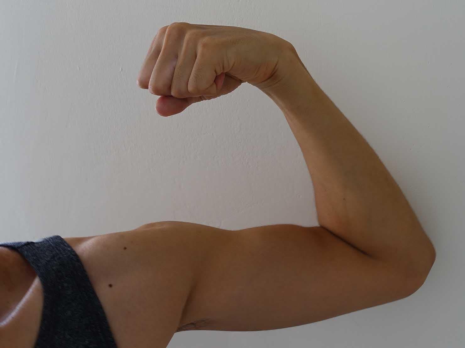 パーソナルトレーニング後の腕