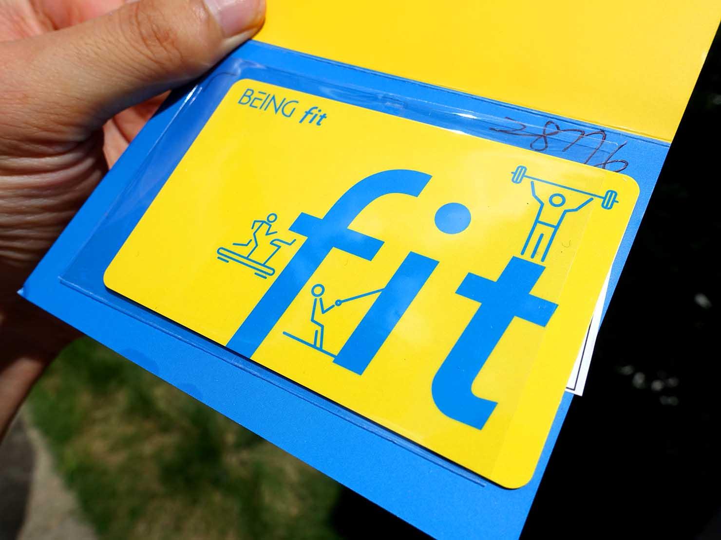 台湾のスポーツジム「BEING fit」のicashカード