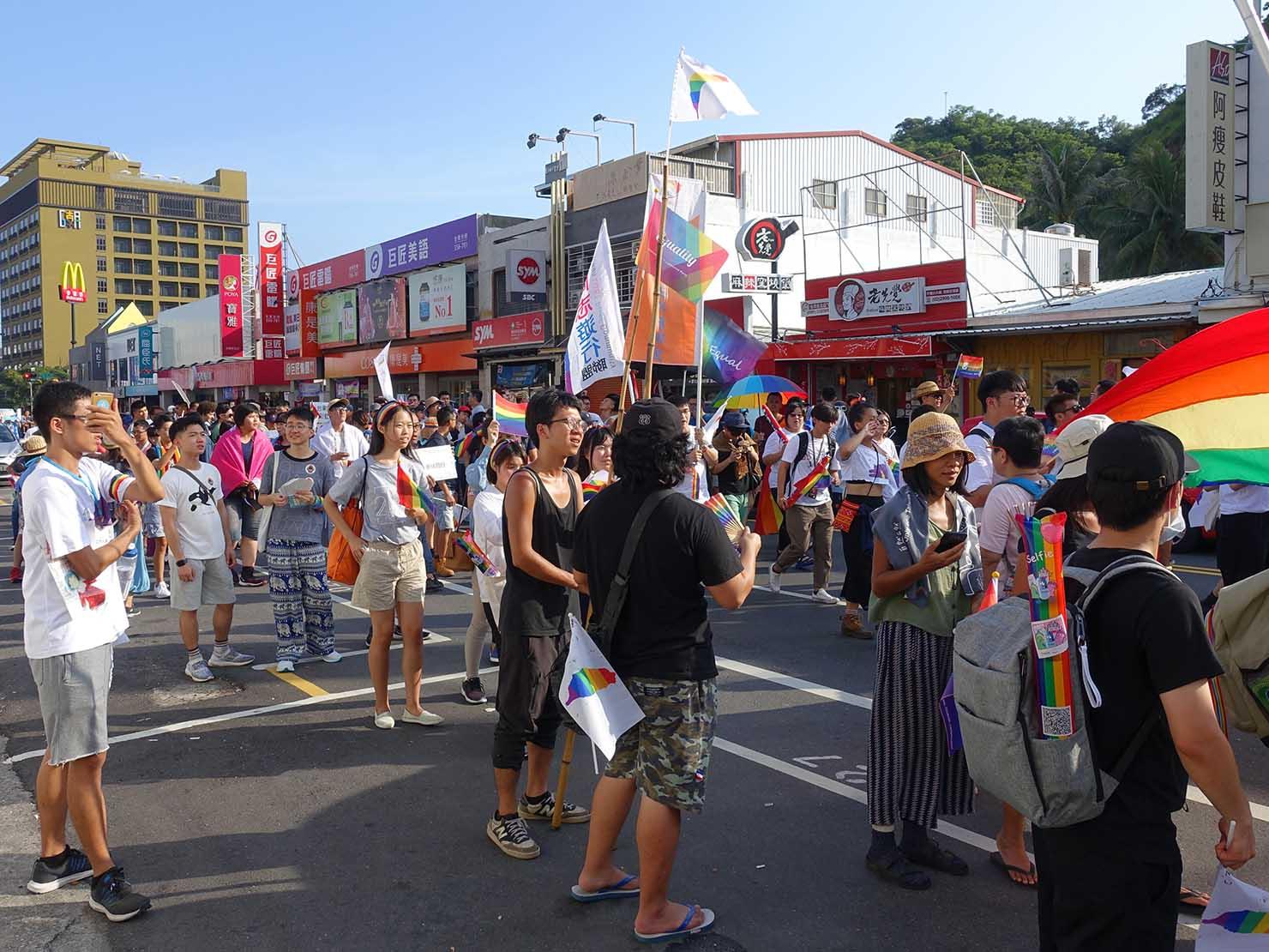 花東彩虹嘉年華(台湾東部LGBTプライド / 台東場)のパレード隊列