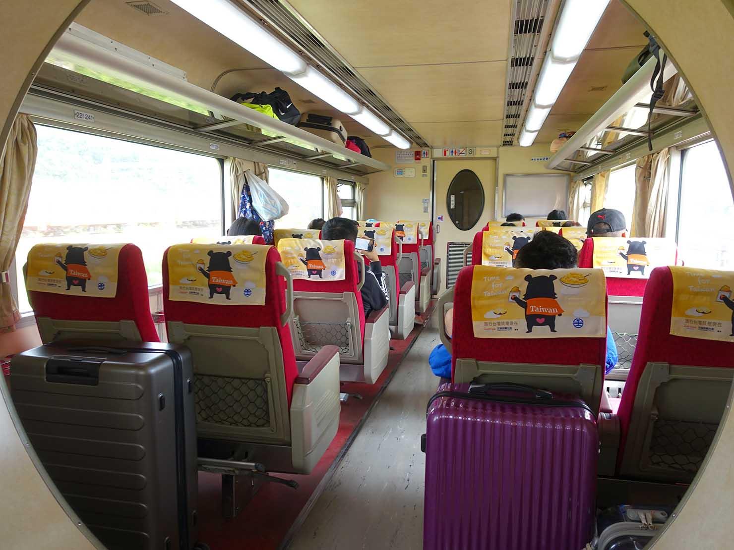 台湾鉄道の車内