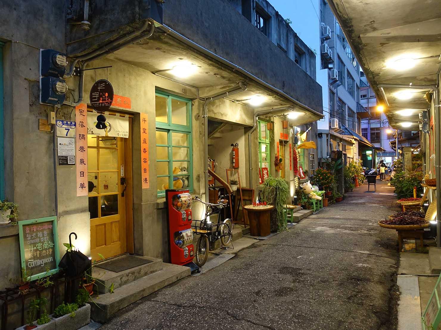 花蓮市街の有名観光スポット「博愛街」にあるおしゃれな袋小路