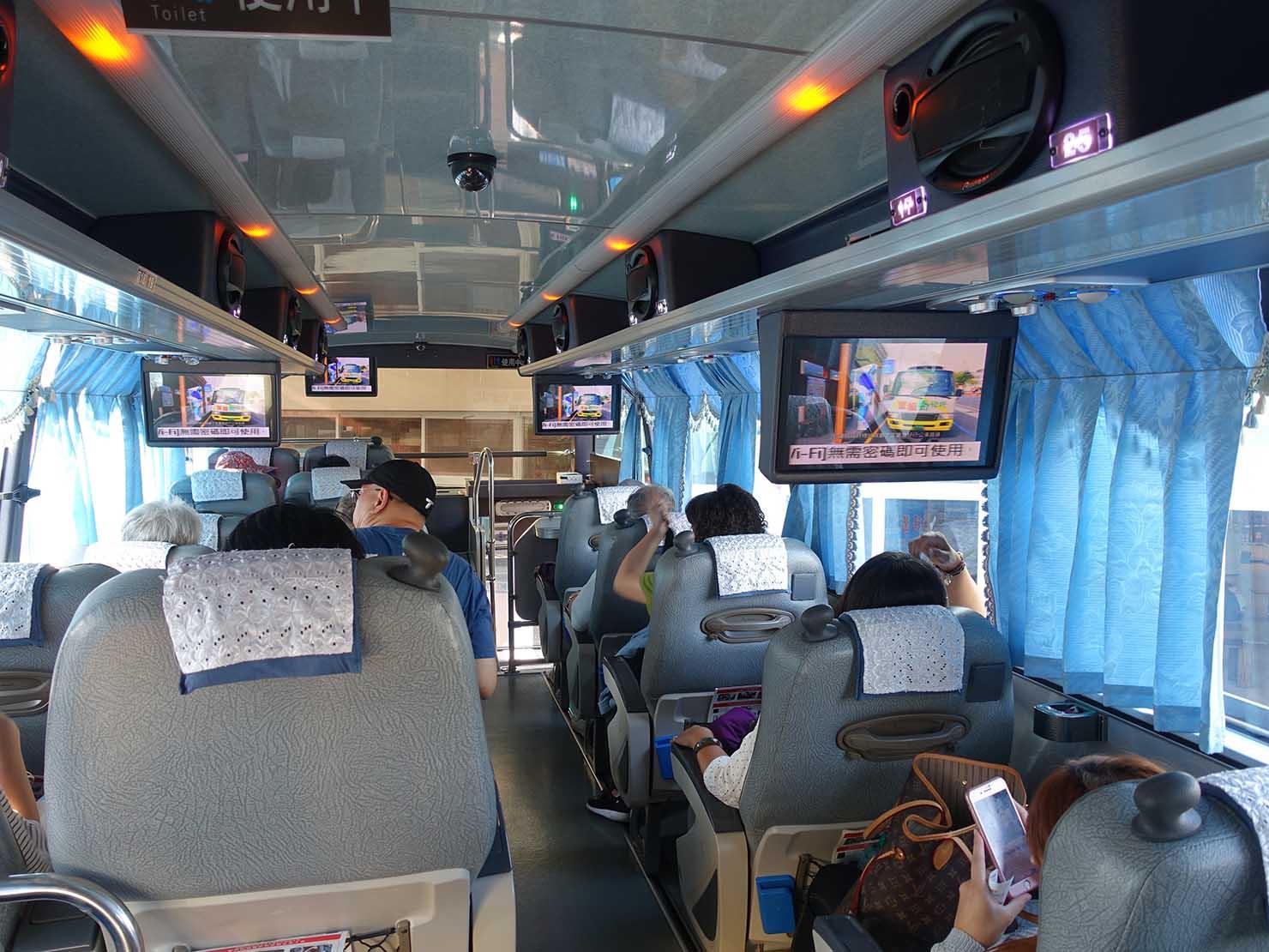 葛瑪蘭客運のバス車内