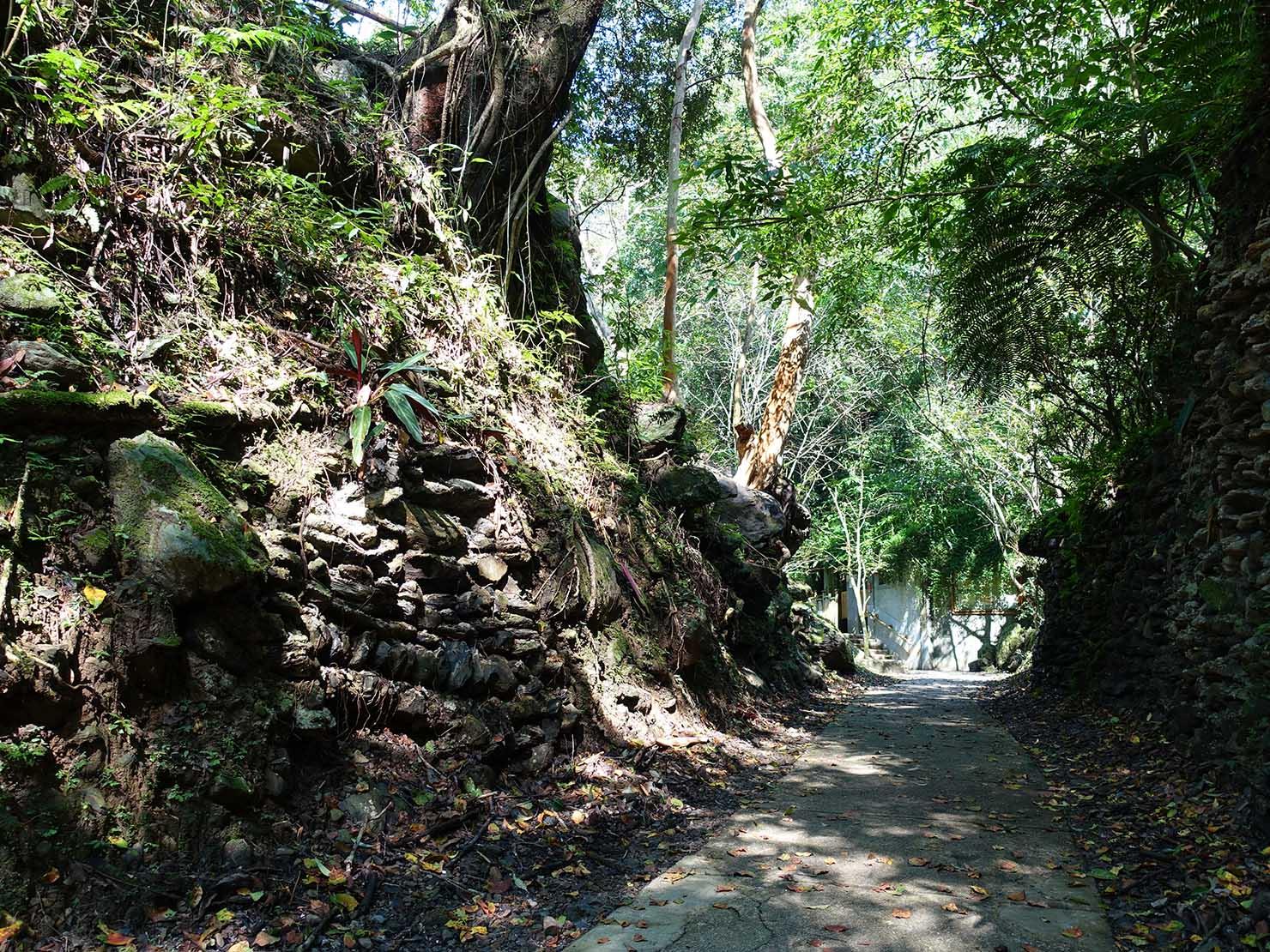 台北・烏來温泉から行けるテーマパーク「雲仙樂園」園内の遊歩道