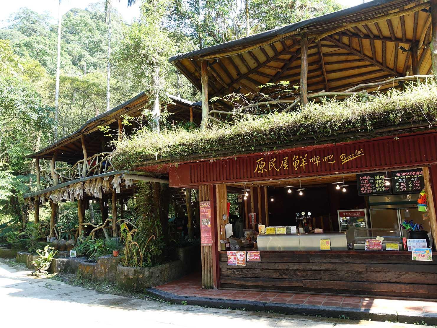 台北・烏來温泉から行けるテーマパーク「雲仙樂園」園内の休憩所